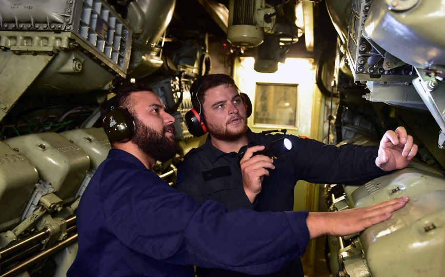 navy marine engineer officer landscape